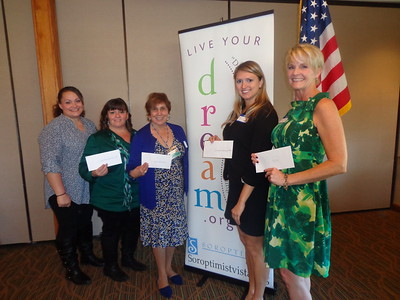 L-R: Christina Hopkins and Vietta Ray of Welcome Home Ministries, Cecilia Rodarte from Hospice of the North Coast, Caitlin Kosec from Interfaith Community Services, and Shar DeWeese from TIP (Trauma Intervention Program.