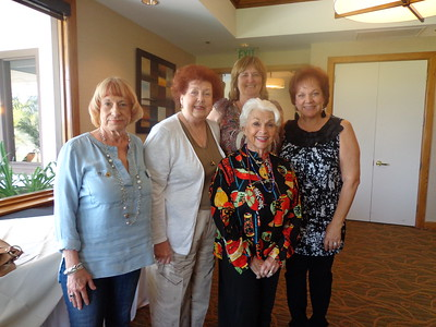 President Thora (back) with Soroptimist members who were recognized for their years of service at the DCR Spring Conference. L-R: Vicki Monahan, Ardis McAndrew, Brigit Clarke-Smith and Nelly Jarrous.