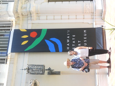 Cherie and Steve Wilson toured art museums, galleries and historical sites during their stay in Hawaii.