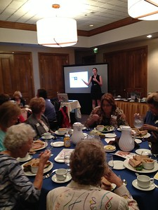 Amanda Hambly of the Burn Institute at our Sept. 20 program meeting at Shadowridge Country Club. The slideshow was riveting and we all were impressed and moved by the work this organization is doing.