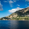 Sailing past Positano, Italy