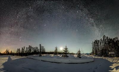 Milky Way over the Moon