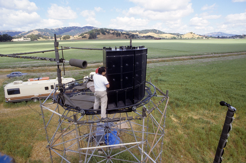 """Free-field testing of MSL-10's at the """"Haystack"""" test site in San Rafael in 1989."""