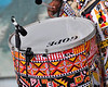 Ile Ayie of Brazil performing at the New Orleans Jazz & Heritage Festival on April 26, 2009, using an Audix D4 mic.