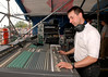 Ani DiFranco's F.O.H. (front-of-house) engineer at the New Orleans Jazz & Heritage Festival in 2006.