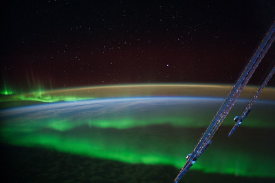 Caption by Space Station Academy student: This is a picture of the Aurora Australis over the Indian Ocean. The significance of this photo is trying to see how a wonder such as the Aurora Australis came into being.  There are many legends surrounding it and scientists are trying to gain another perspective from space.