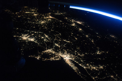 Got up early to see #Perseid meteors but saw something better- my friends in #NewYork and #NewJersey. #YearInSpace