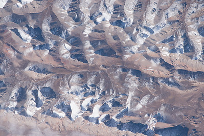 More #EarthArt from the other side of the #Himalayas. #YearInSpace
