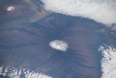 Mauna Kea (left) and Mauna Loa (right), Hawaii, US