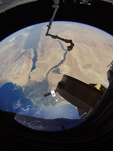 SpaceX Dragon CRS-15 over the Nile Delta again