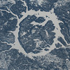 Remnant of something three miles wide - what is it? ISS over Quebec, Canada. (ANSWER: an impact crater, the Manicouagan Reservoir in Quebec, Canada)