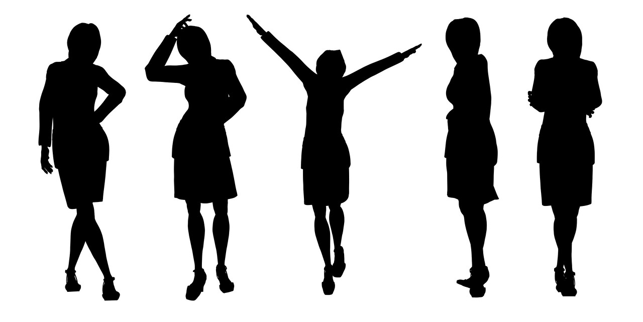 Silhouette of the businesswoman
