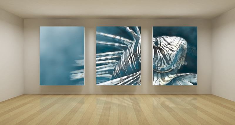 Business room, 3d art with empty space, three green chroma key frames