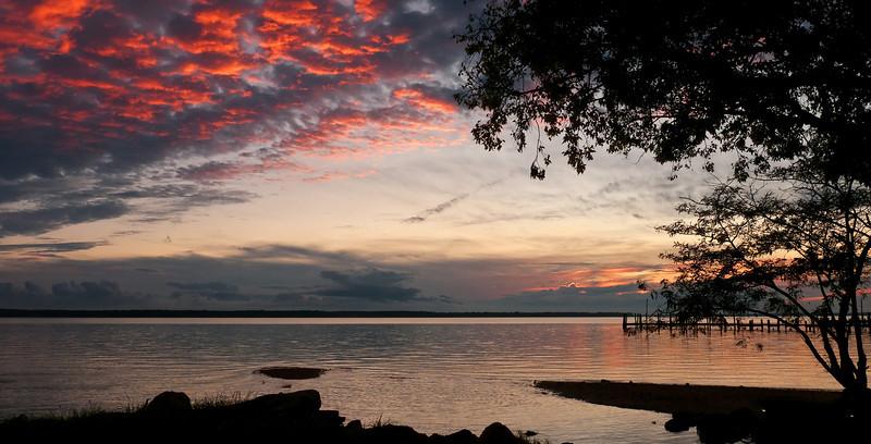 Sun setting over Potomac River at Popes Creek<br /> Newburg, MD