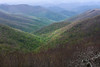 Pisgah National Forest in springtime, from Craggy Gardens overlook<br /> Blue Ridge Parkway, NC (Milepost 364.5)