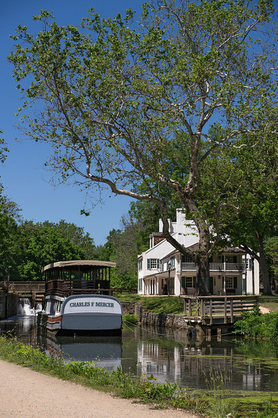 Tavern Visitor Center & canal boat<br /> C&O Canal Nat'l Historical Park - Great Falls, Western Montgomery County, MD