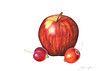 Apple & Crabapples 5x7 (signed) - Colored Pencil