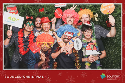 Sourced Group Christmas Party 2019 | © SRSLYPhotobooth.sg