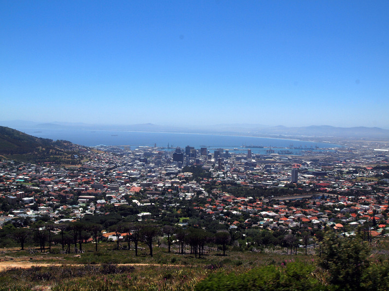 Capetown view from Table Mountain Tramway