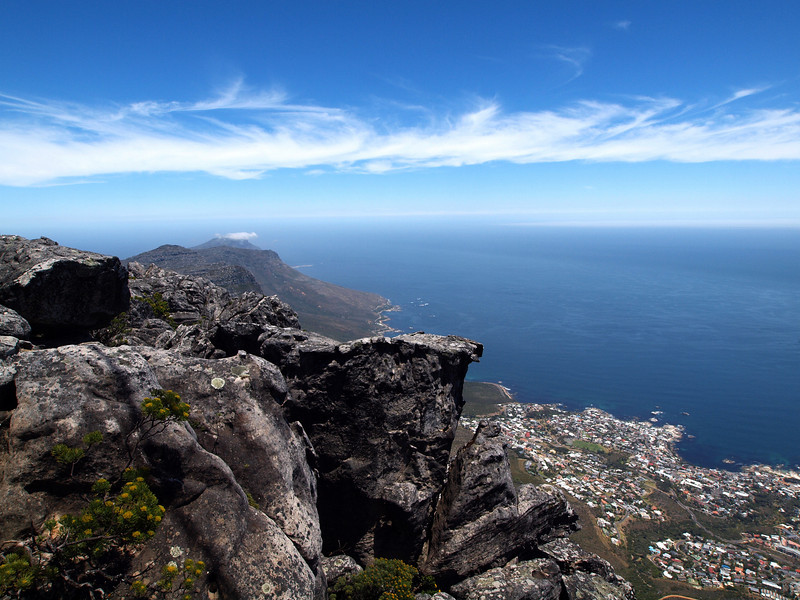 Table Mountain towards Camps Bay