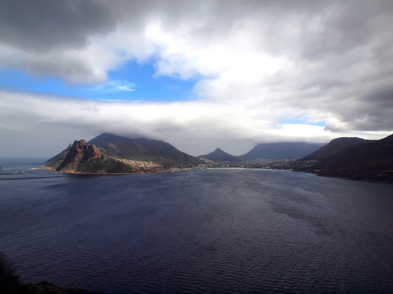 View along the road south of Capetown