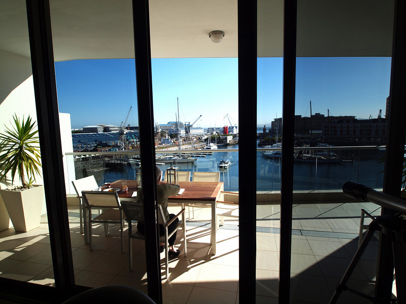 View from Apartment in V & A Waterfront, Capetown