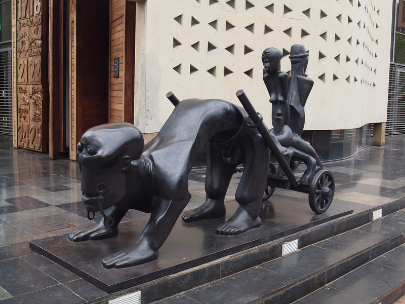 Dumile Feni sculpture in front of the South African Constitutional Court.