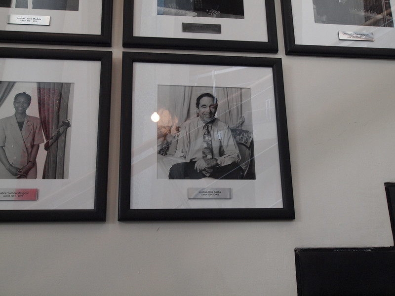 Photo of Albie Sachs, a member of the court until 2009, and a drafter of the South African Constitution, who we met in Capetown.