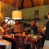 Henrich, our Ranger, serves coffee at 5:30AM before our morning game drive