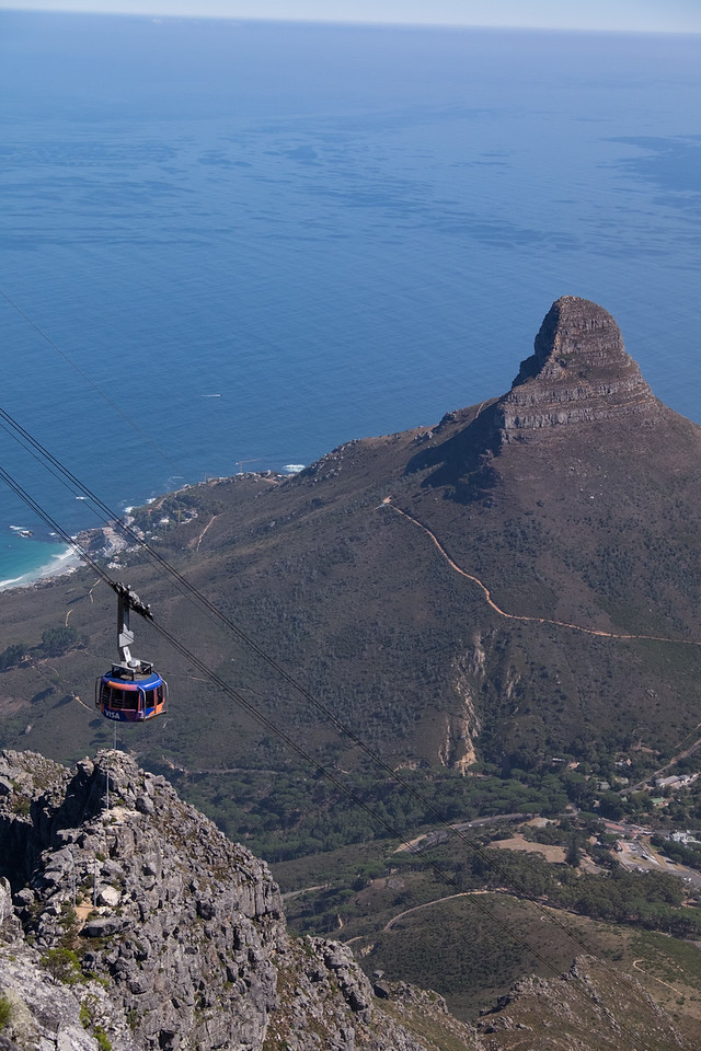 Lion's head seen from Table Mountain