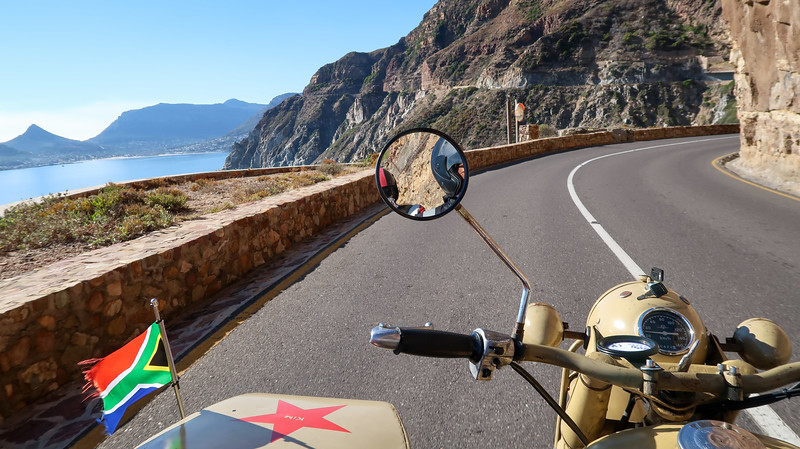 Touring the Cape Peninsula by sidecar with Cape Sidecar Adventures
