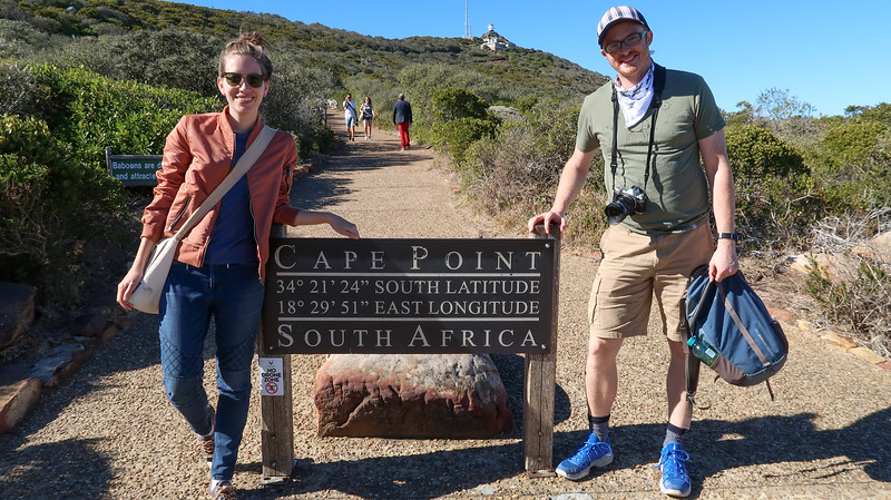 Visiting Cape Point in South Africa.
