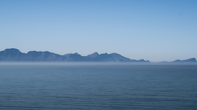 Mist over the water on the Cape Peninsula tour.