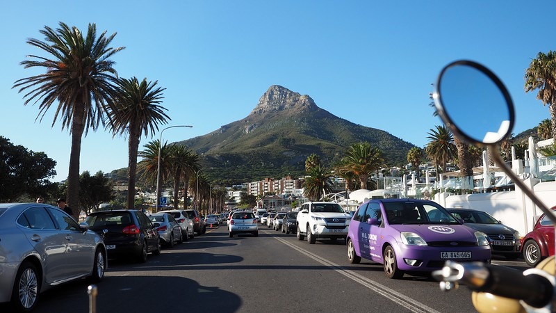 Touring through Camps Bay, Cape Town.