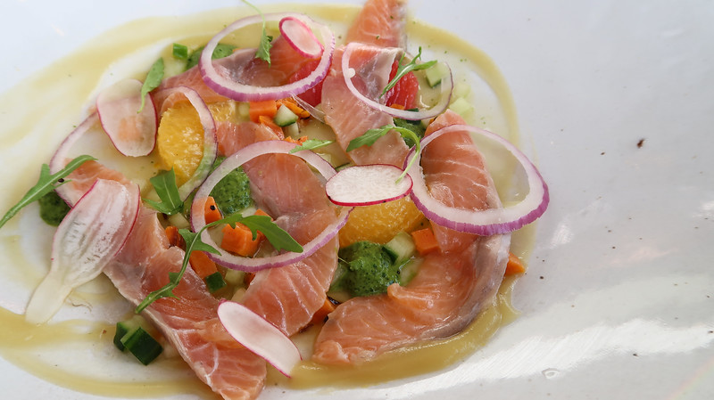 Salmon ceviche at The Granary Cafe, Silo Hotel