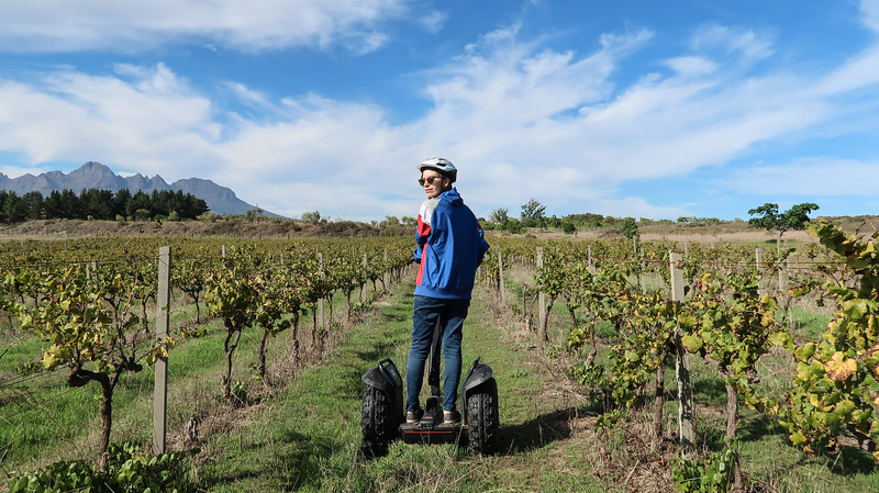 Taking a segway tour through Spier Wine Farm - one of the many fun ways to experience Stellenbosch