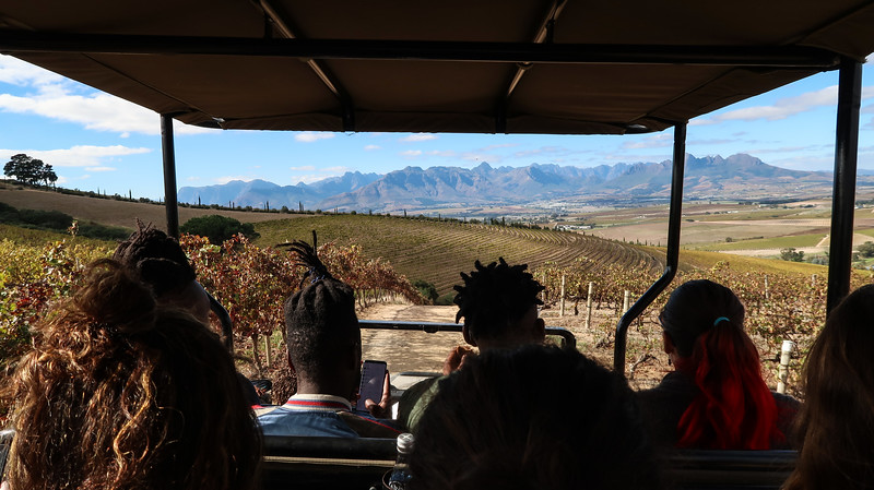 A wine safari tour at Jordan Wines in Stellenbosch.