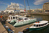 Cape Town's magnificent waterfront, with shops and restaurants to satisfy all tastes.
