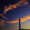 Slangkop lighthouse and colorful clouds