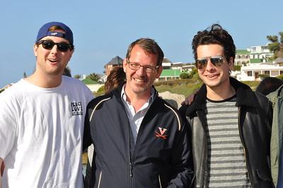 Ian Baucom with UVA Students
