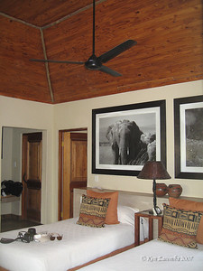 Our room at the Mashatu Main Camp Safari Lodge. Very nice accomodations
