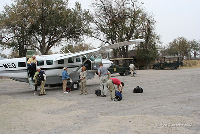 Arrival at Moremi Game Reserve on our South Africa by private air National Geographic Expeditions expedition