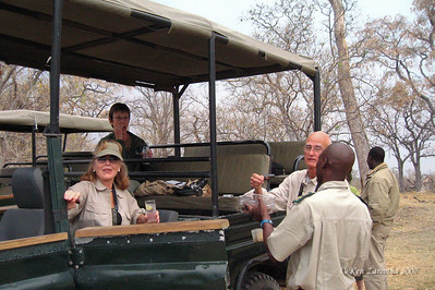 Afternoon sundowner stop for drinks, a safari tradition