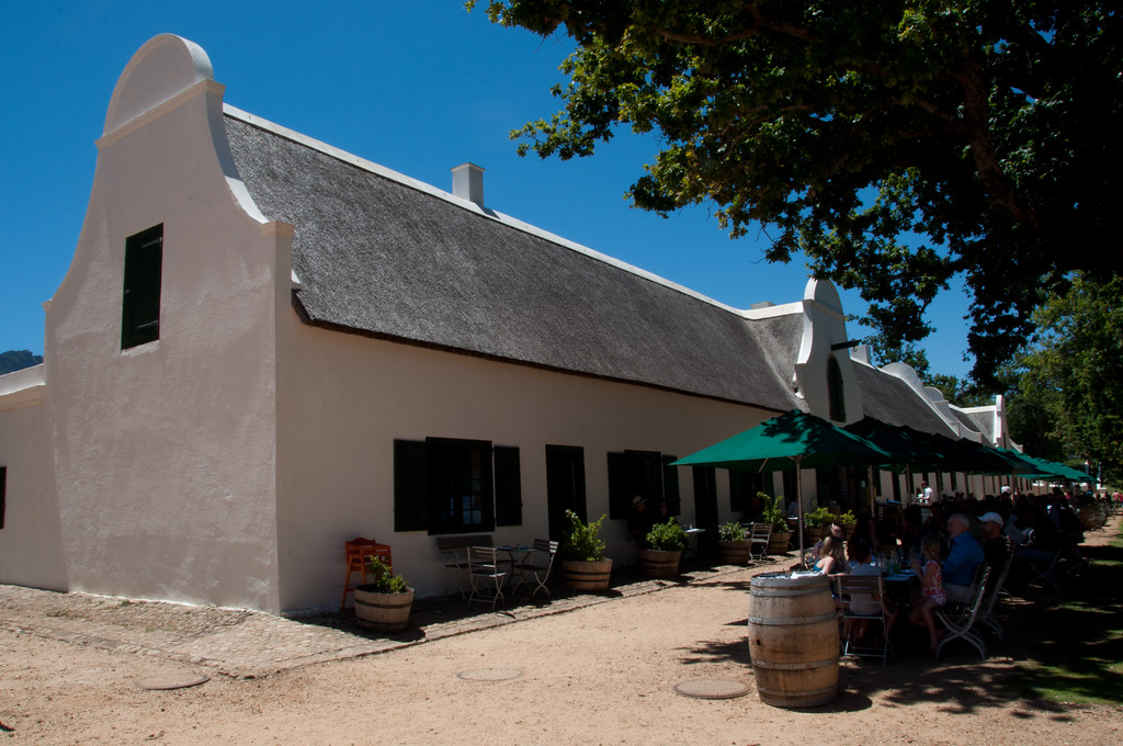 Jonkershuis Restaurant, Groot Constantia - excellent food and seating inside the house is both very cooling and also has great views over the vineyards
