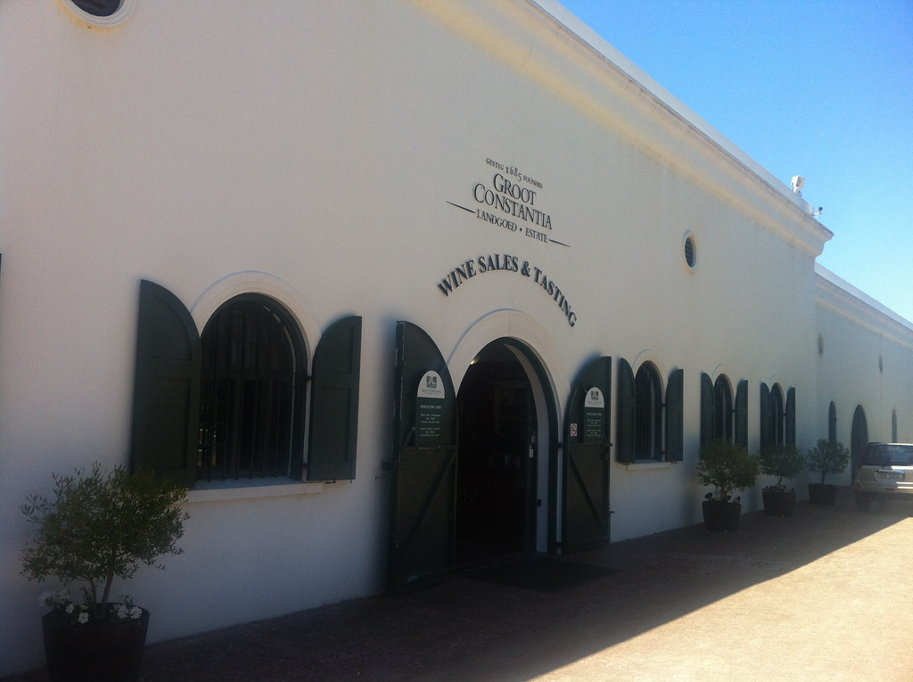 Groot Constantia Vineyard Wine Tasting House Exterior