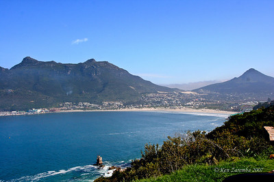 Views of and from Hout Bay on the West coast of South Africa on thre Atlantic Ocean. Hout Bay a suuburb of Cape Town,