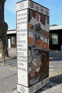 Monument to old Langa men's labor campg