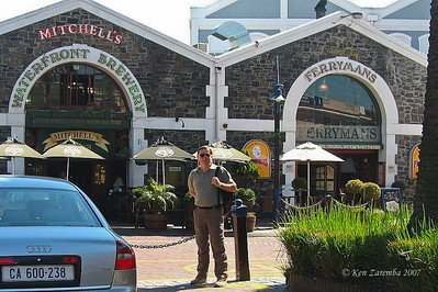 Like a bee to a flower, Ken finds a brewery near the Cape Grace Hotel