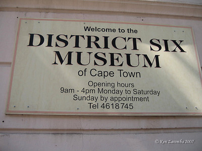District Six Museum of artifacts relating to aparthied, racial segration enforced through legislation