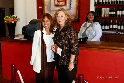Guide Arlene & Susan at Groat Constantia Winery, South Africa